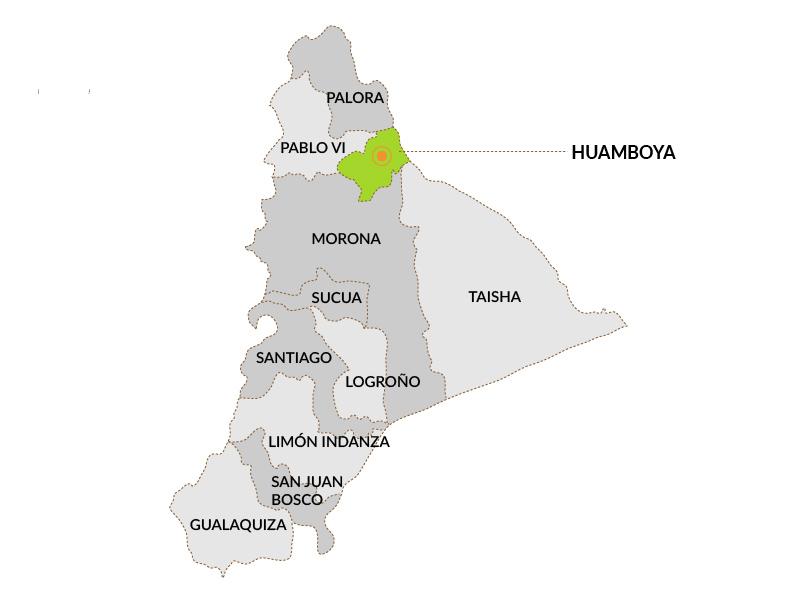 Mapa Ubicación Huamboya